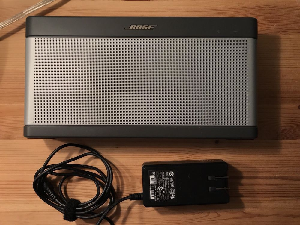 Bose Soundlink Iii Bluetooth Speaker Silver Ebay Link Portable
