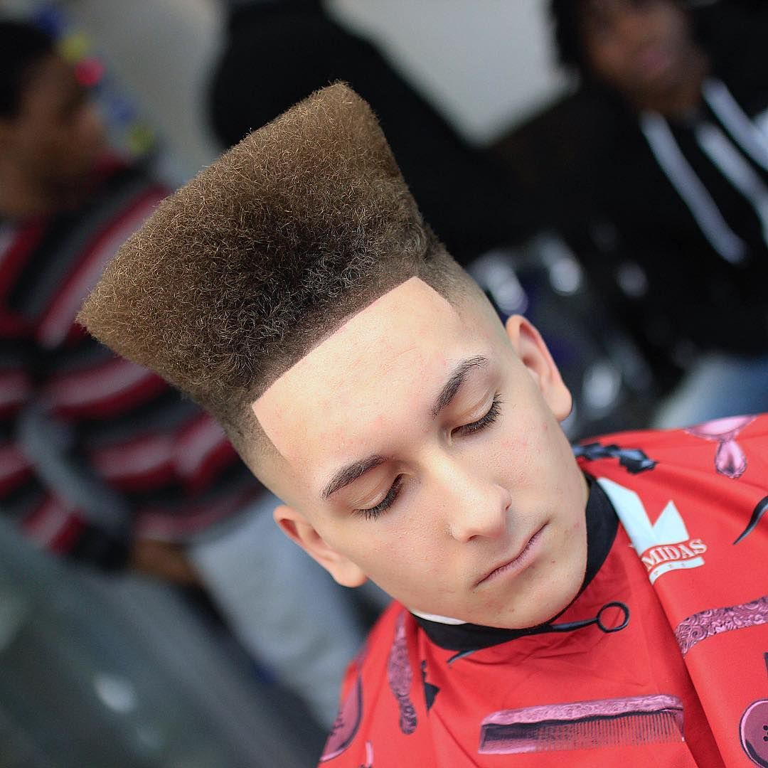 Extra High Top Fade haircuts for men curly hair | Curly hairstyles ...