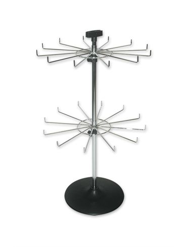 2 Tier 12 Prong Chrome Counter Display Stand Display Decoration