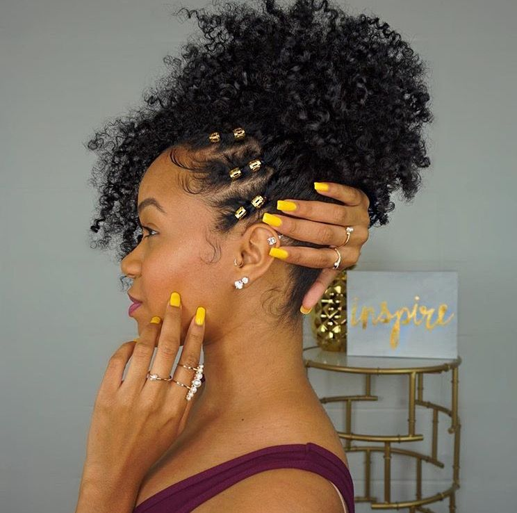 Inspirational Curly Natural Hairstyles for Black Hair