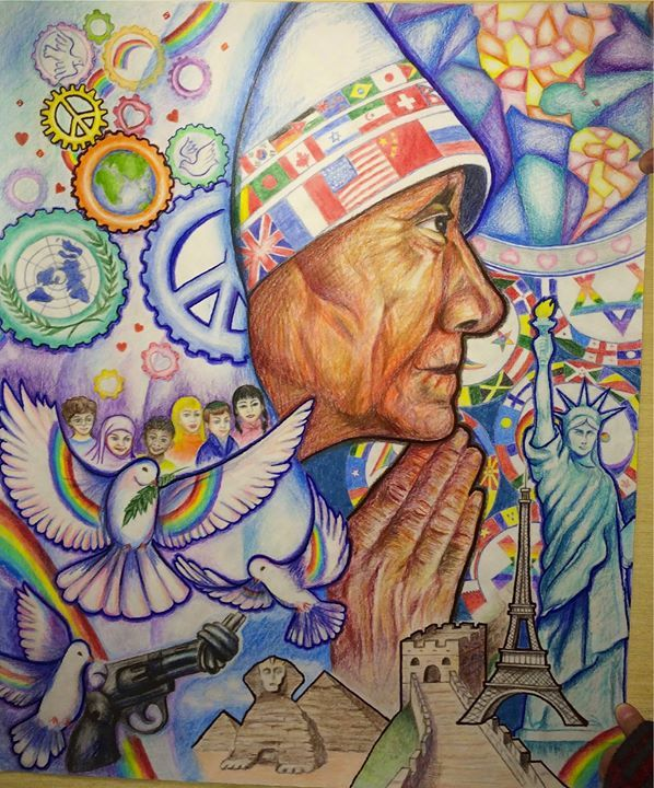 Edison Metro Runner Up Drawing Competition Poster Drawing Peace Art