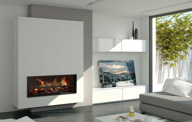 chimeneas modernas salones modernos hogar Pinterest Moderno - chimeneas modernas