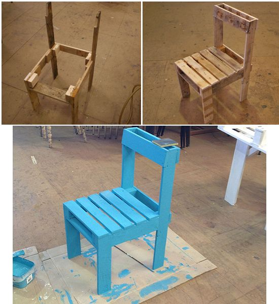 Sedia di pallet recupero fai da te pallet projects woodworking projects diy diy woodworking - Mobili fai da te progetti ...