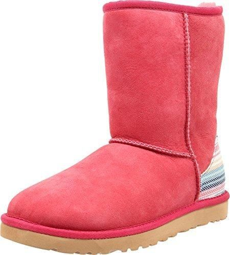 UGG Women's Classic Short Serape Sunset Red Twinface Boot 8 ...