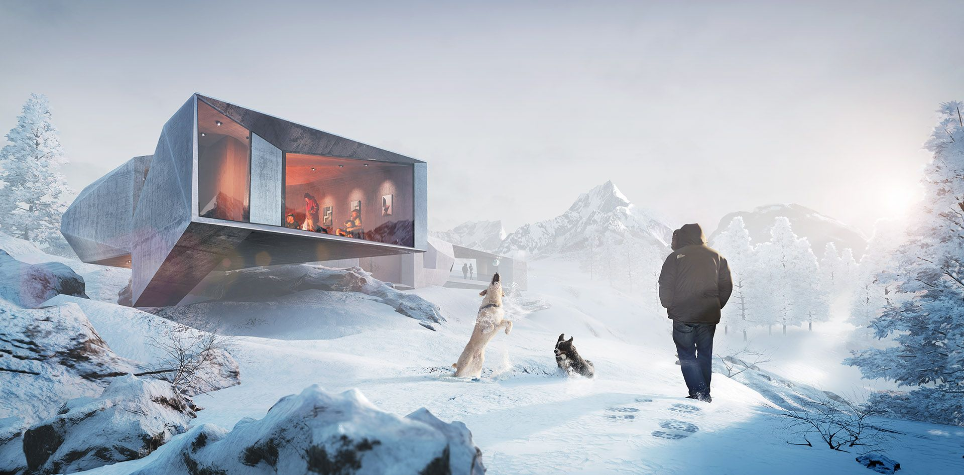 Unreal engine real time christmas illustration and for Unreal engine 4 architecture