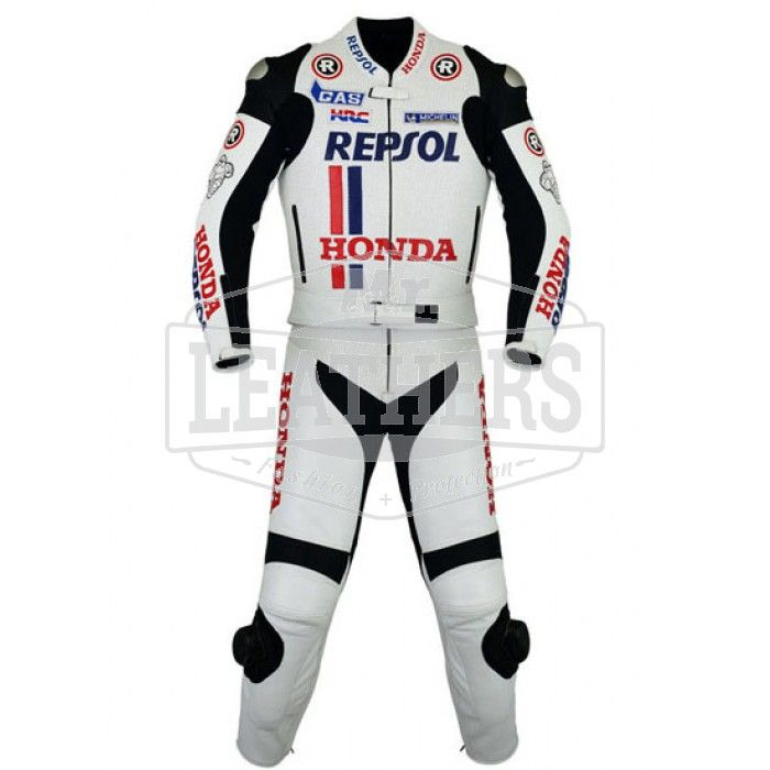 motorcycle motogp racing Leather suit Honda American Moriwaki motorbike
