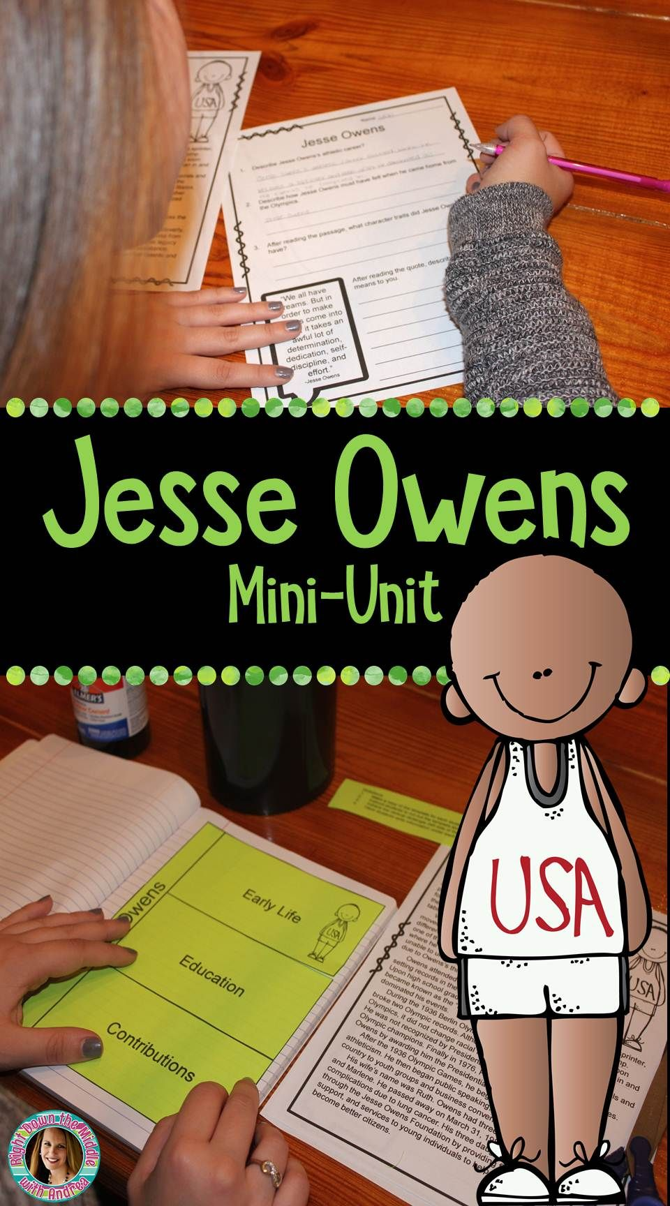 worksheet Jesse Owens Reading Comprehension Worksheets do you want a print and go resource to use teach your students jesse owens mini lesson