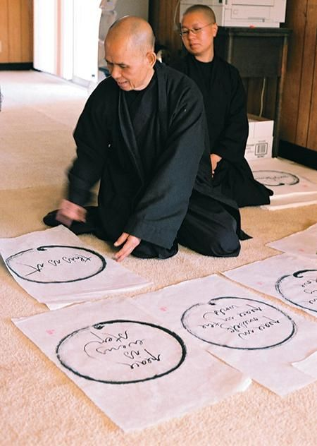 A chance to have an original calligraphy by Thich Nhat Hanh—closing Tuesday. http://www.lionsroar.com/art-auction/