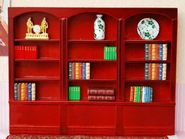 1//12 Dollhouse Miniature Furniture Library Display Bookcase Bookshelf Cabinet