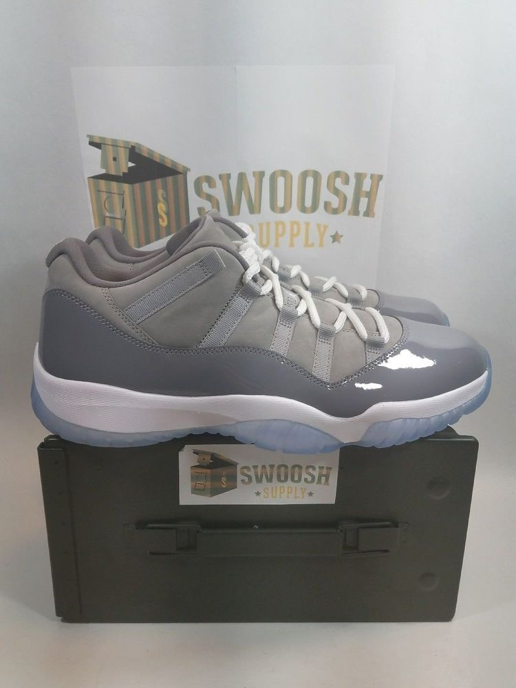 best website 278cd aa909 Nike Air Jordan Retro XI 11 Low Cool Grey White 528895-003 Size 12.5 New   Nike  AthleticSneakers