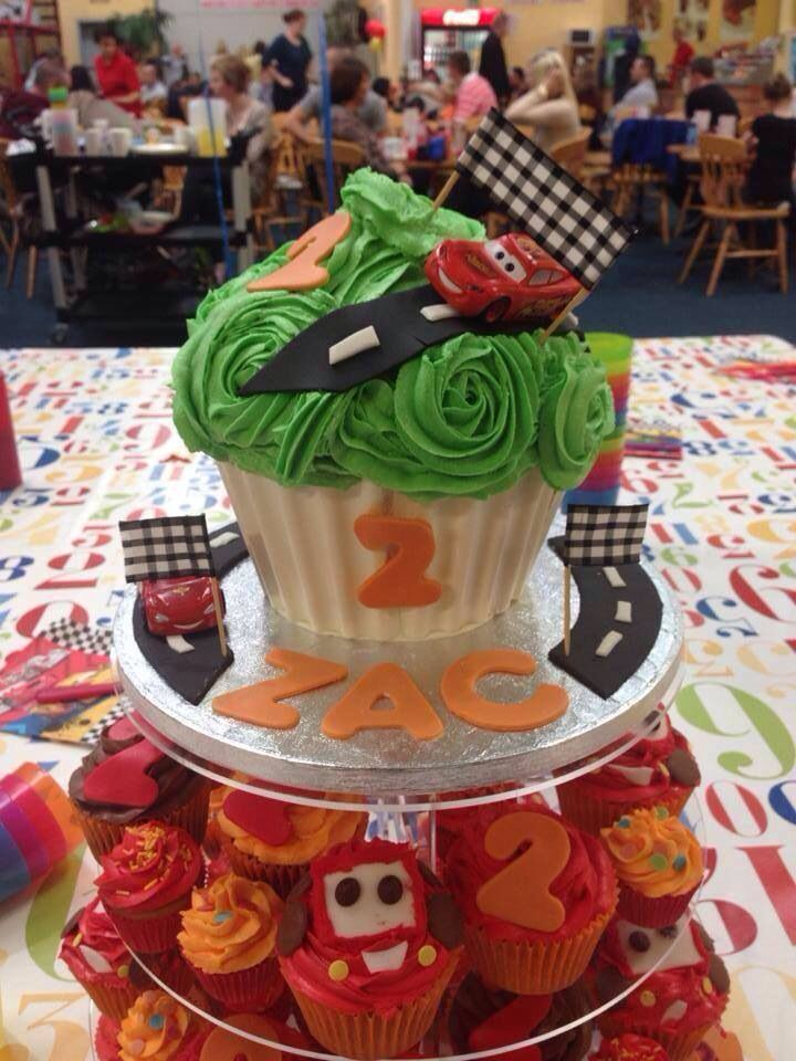 Cars Giant Cupcake cars disney lighteningmcqueen Birthday ideas
