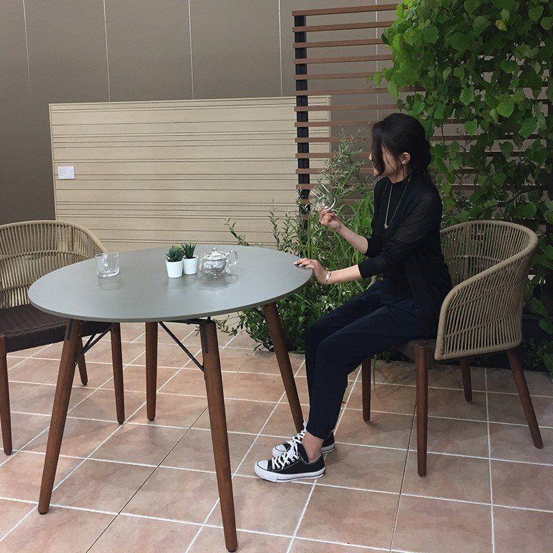 テーブル イス セット 机 椅子 チェア 屋外 家具 天然 木 ガーデン タカショー オーパス ラウンドテーブル チェアー3点セット D 青山 ガーデン Paypayモール店 通販 Paypayモール ラウンドテーブル 天然木 机 椅子
