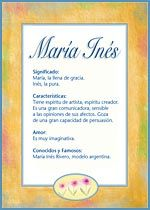 Maria Ines Social Security Card Names Book Cover