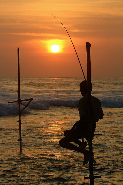 fisherman at sunset, Mirissa, Sri Lanka | by guy philippe