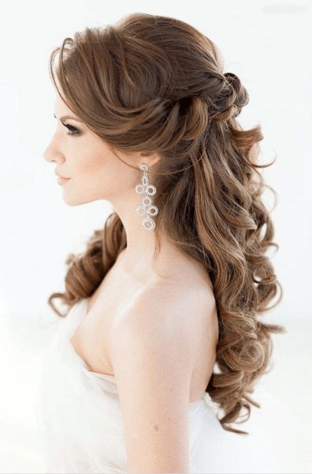 Açık Düğün Saç Modelleri Saç Model Wedding Hair Down Wedding