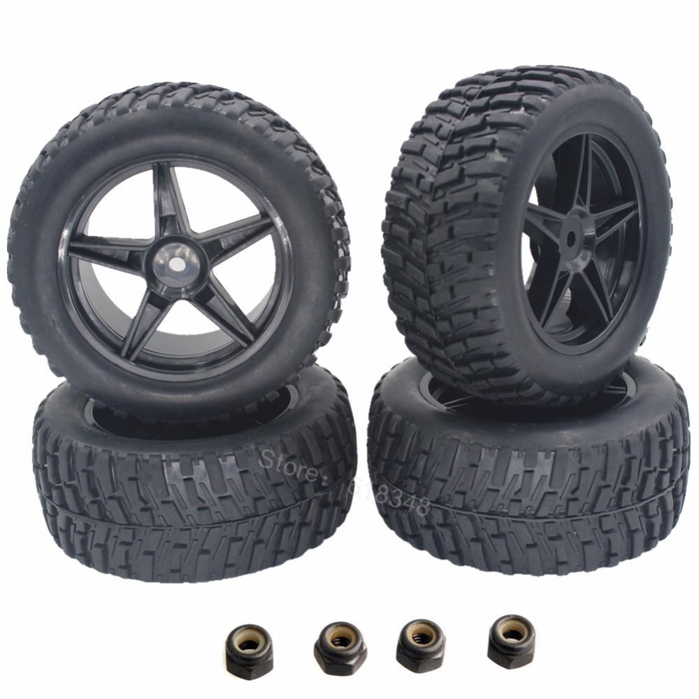 4 Pieces 2 2 Inch Rc Rally Truck Rubber Tires Amp Plastic