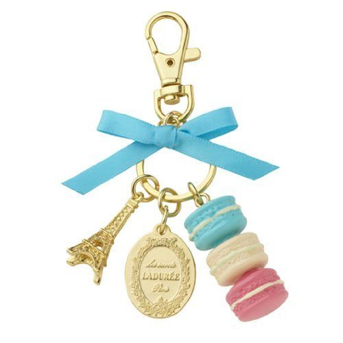 Amazon.com: LADUREE Keychain Ring Eiffel Tower Macaron Charm S -BLUE: Arts, Crafts & Sewing