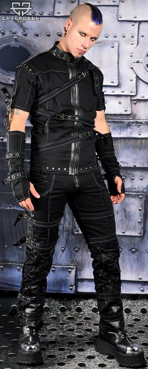 Apocalypse Gothic Industrial Rivethead Cyber Punk Tattered
