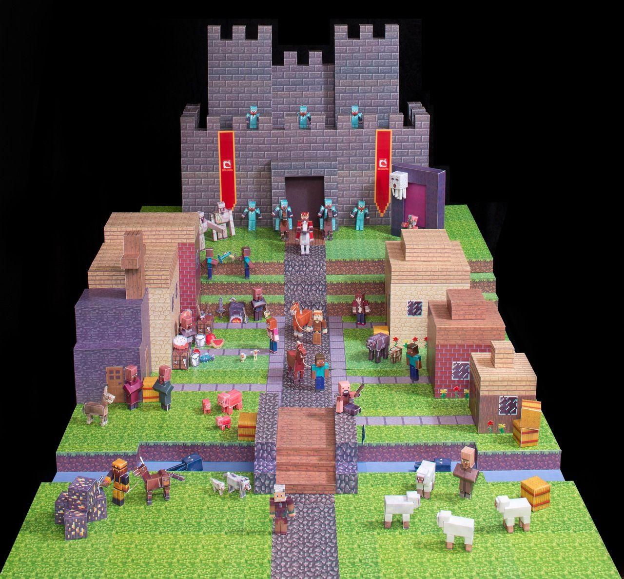 Minecraft Stadt Papercraft Papertoys Pinterest Minecraft - Minecraft hauser dorfbewohner