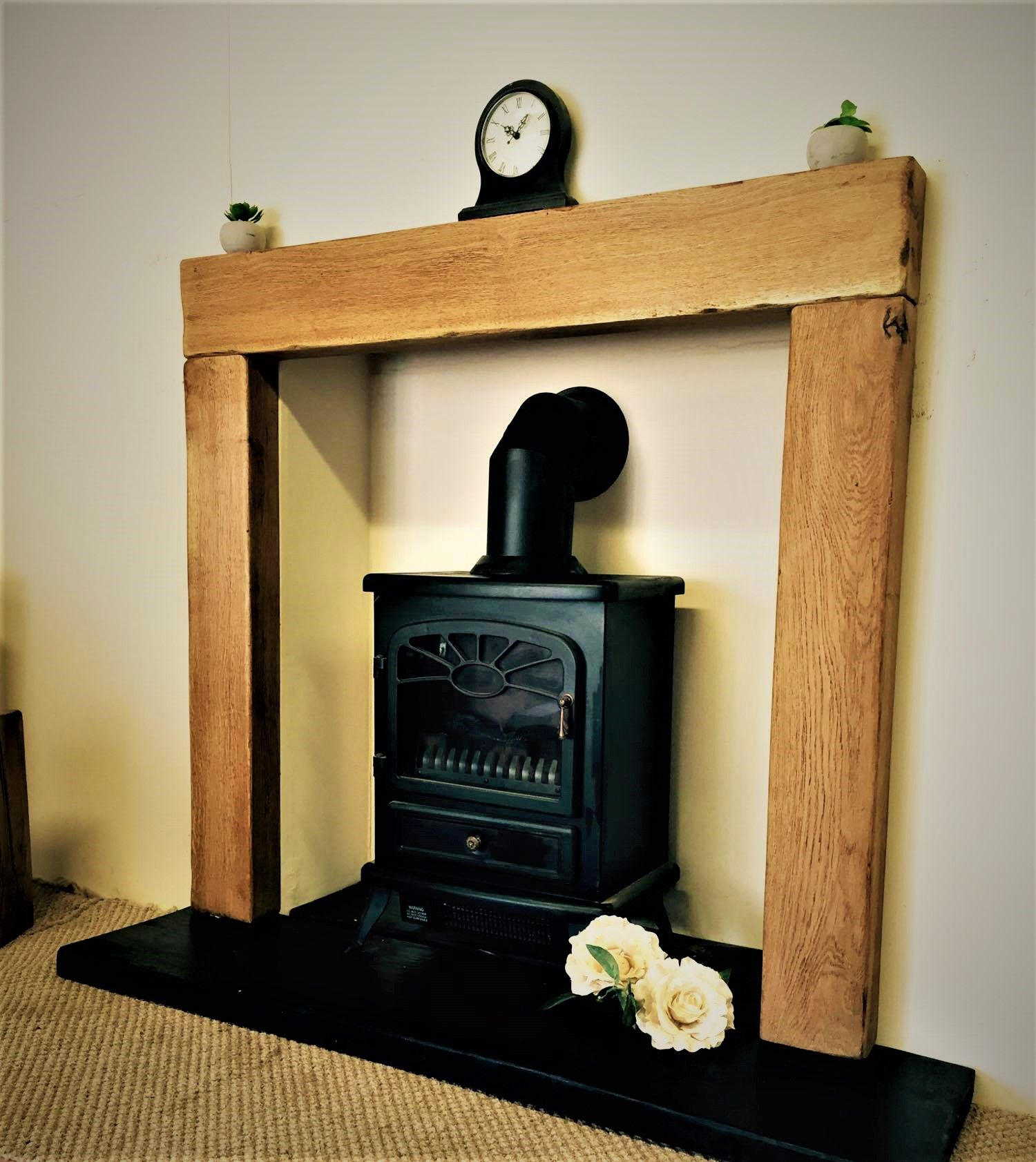 hand crafted contemporary solid oak fire surround fire surround
