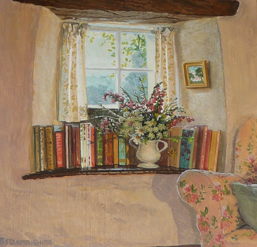 'The Inglenook Window' by contemporary English Impressionist Stephen Darbishire (1940).