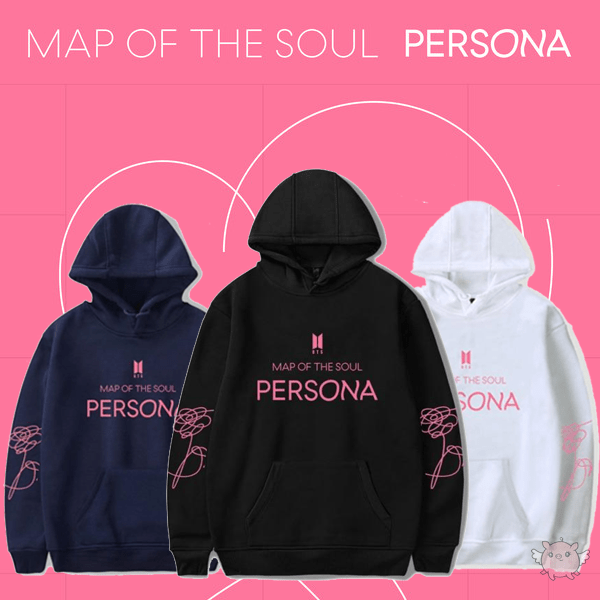 Kpop BTS New Album Map of The Soul Persona Hoodie Sweater Jimin V Jungkook Long Sleeve Hoodies Sweatshirt Merchandise