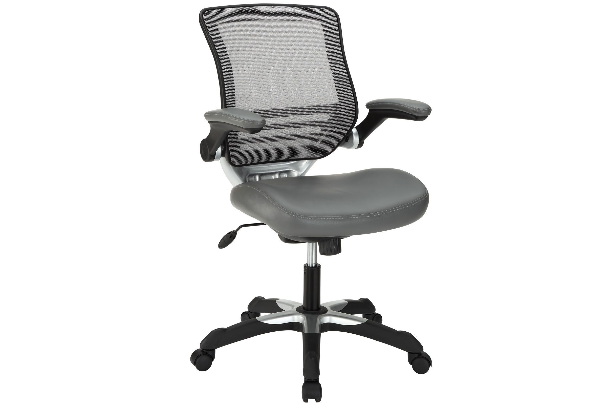 Vinyl Office Chair In Grey By Modway