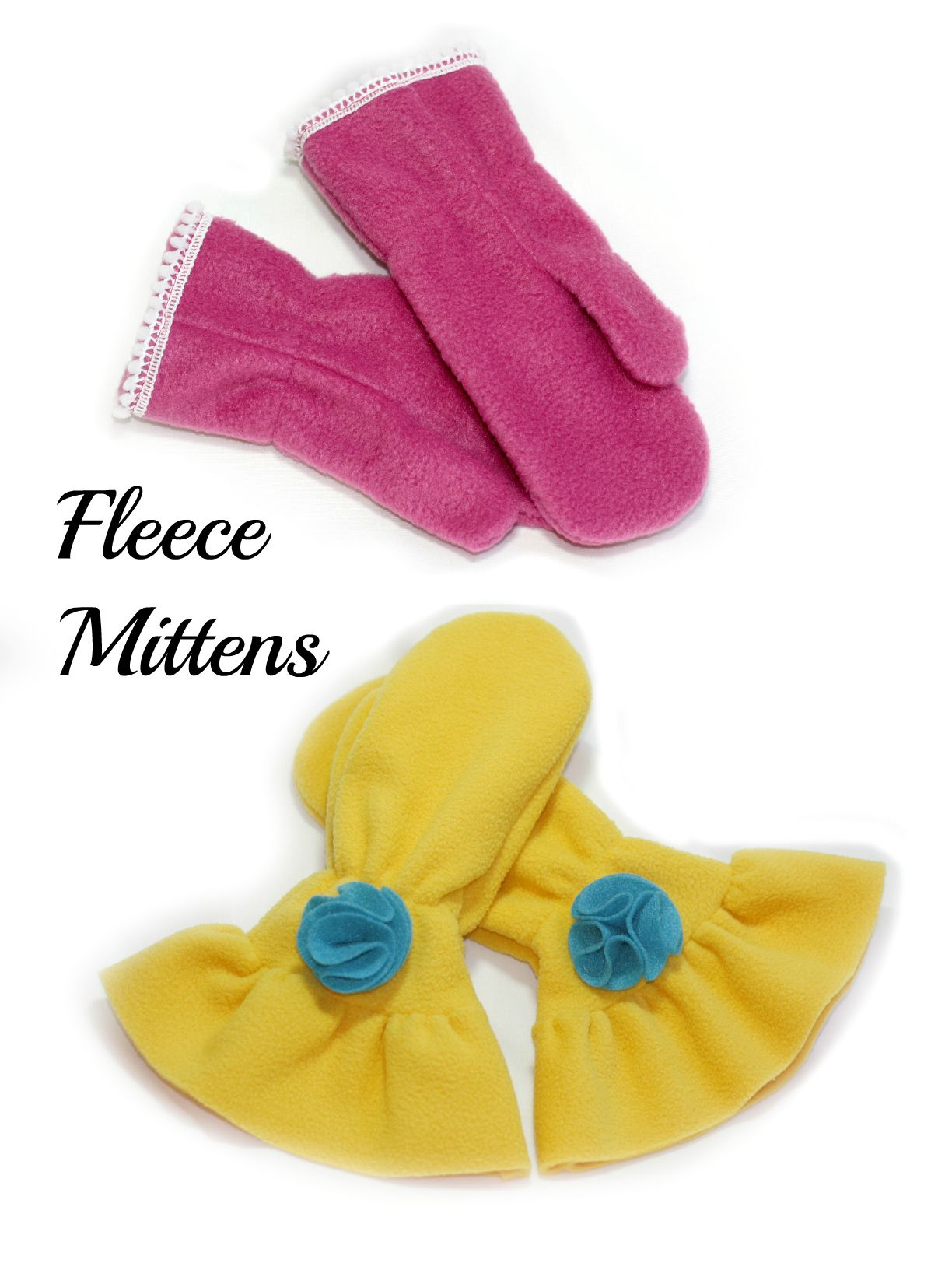 Whimsy Couture Boys and Girls Fleece Mittens PDF Sewing Pattern on sale for $4.00
