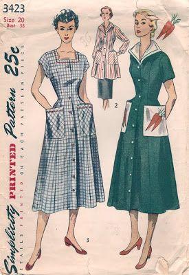 The House Dress A Humble History Vintage Dress Patterns Dress Patterns House Dress