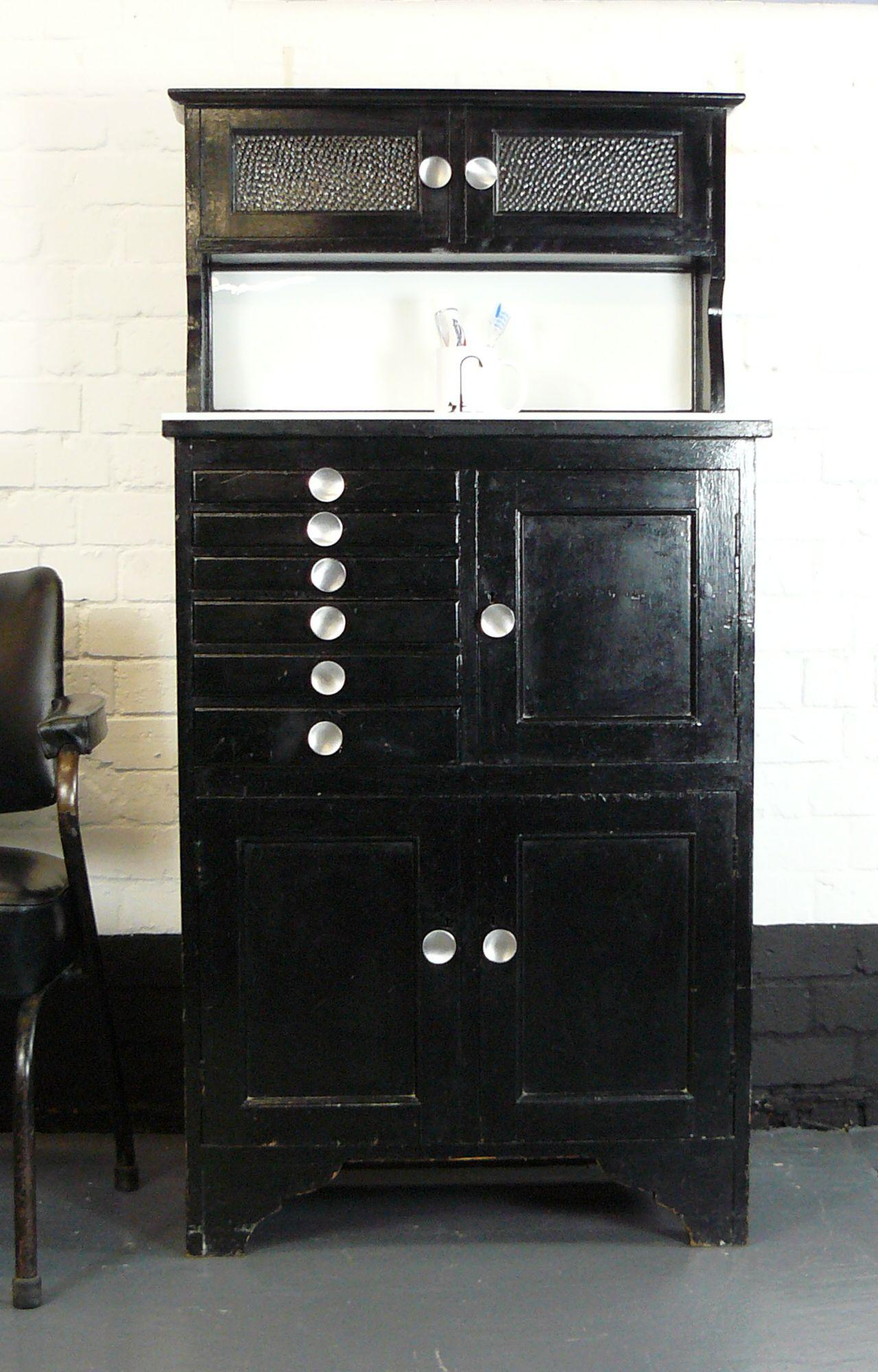 1930s Original English Dental Cabinet | Dental cabinet ...