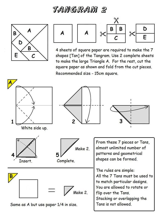 Forms Diagrams  Tangrama    Diagram Origami And