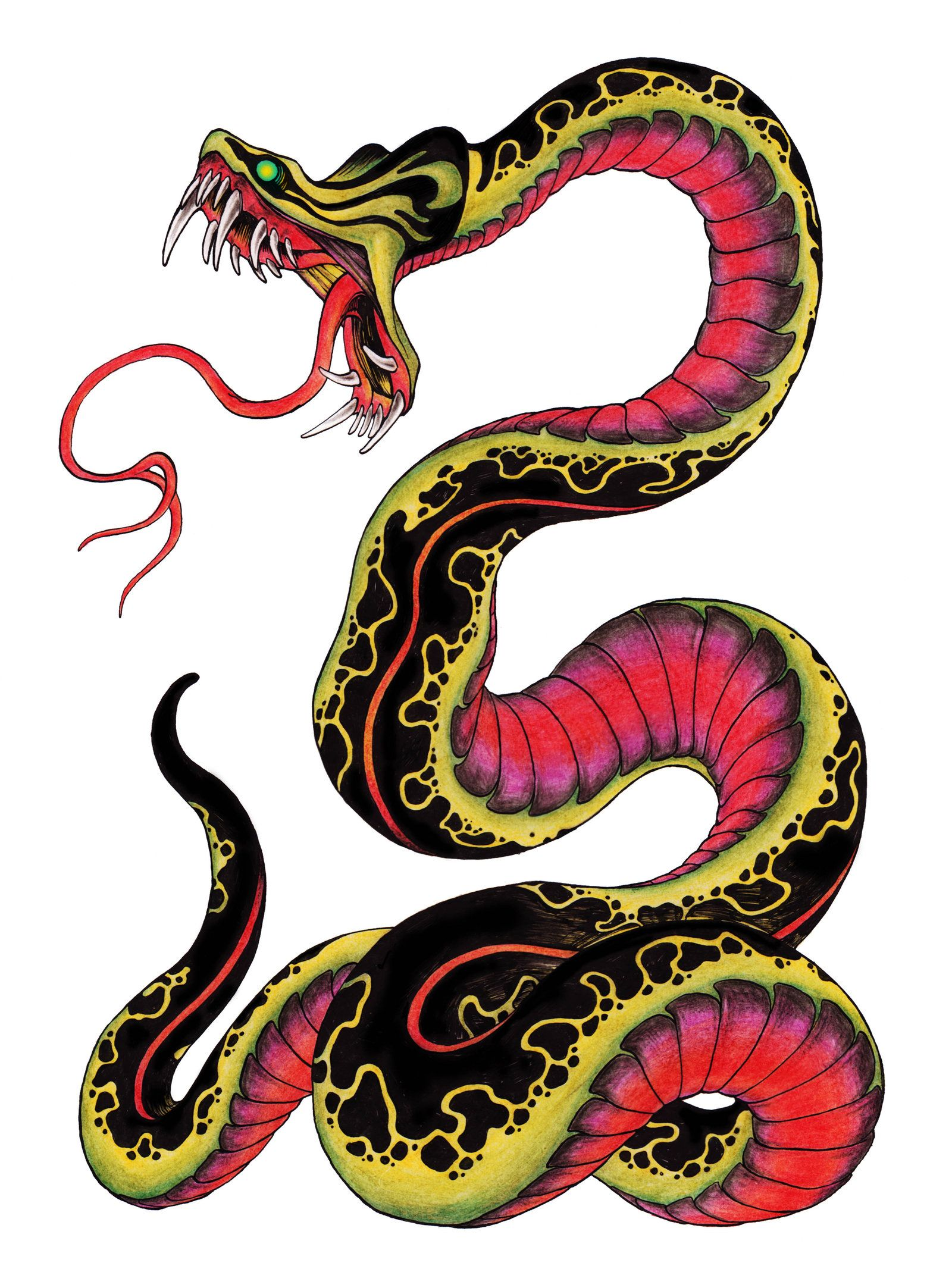 Snake tattoo design by on