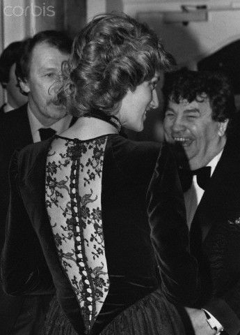 February 10, 1985: Princess Diana meets guests as she attends a jazz concert at the London Palladium.  The concert is being staged by the National Jazz Centre as a curtain raiser for the opening of their new premises in Covent Garden.