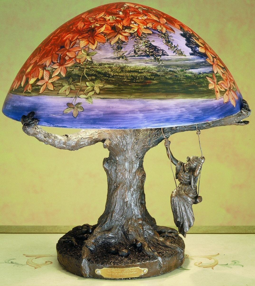 Meyda Tiffany Parrish Reveries Reverse Painted Table Lamp 32108 | LampsUSA