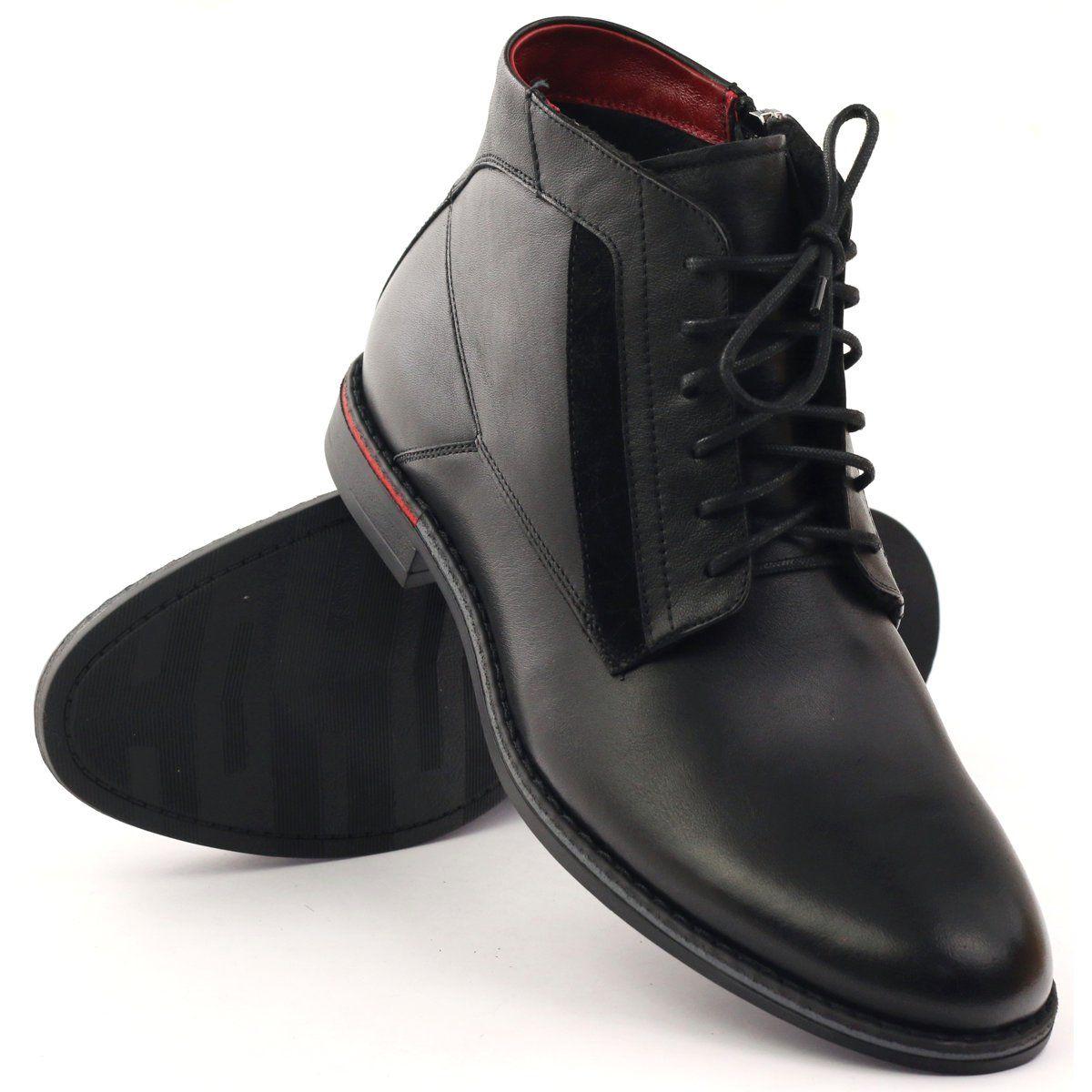 Botki Sztyblety Pilpol Pc6007 Czarne Dress Shoes Men Boots Men Boots