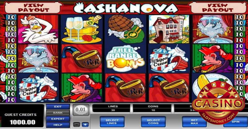The Cashanova Slot Is Free With No Download To Worry About