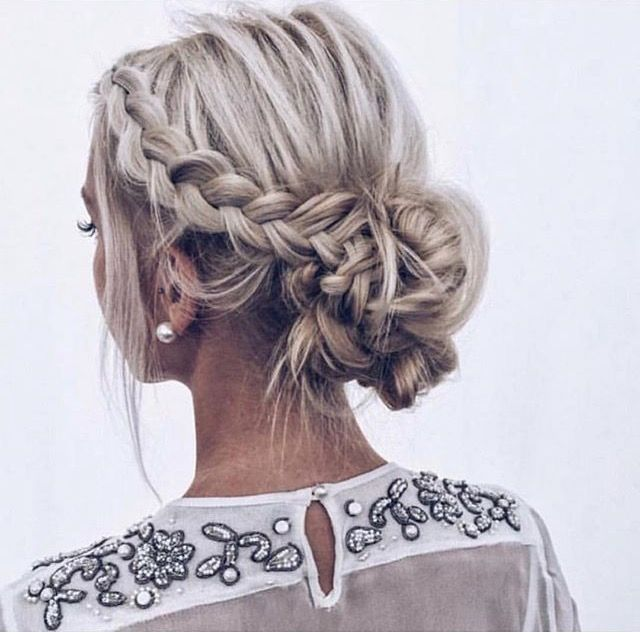 Pinterest Itsfaridy Short Hair Updo Braided Hairstyles Updo Wedding Hair And Makeup