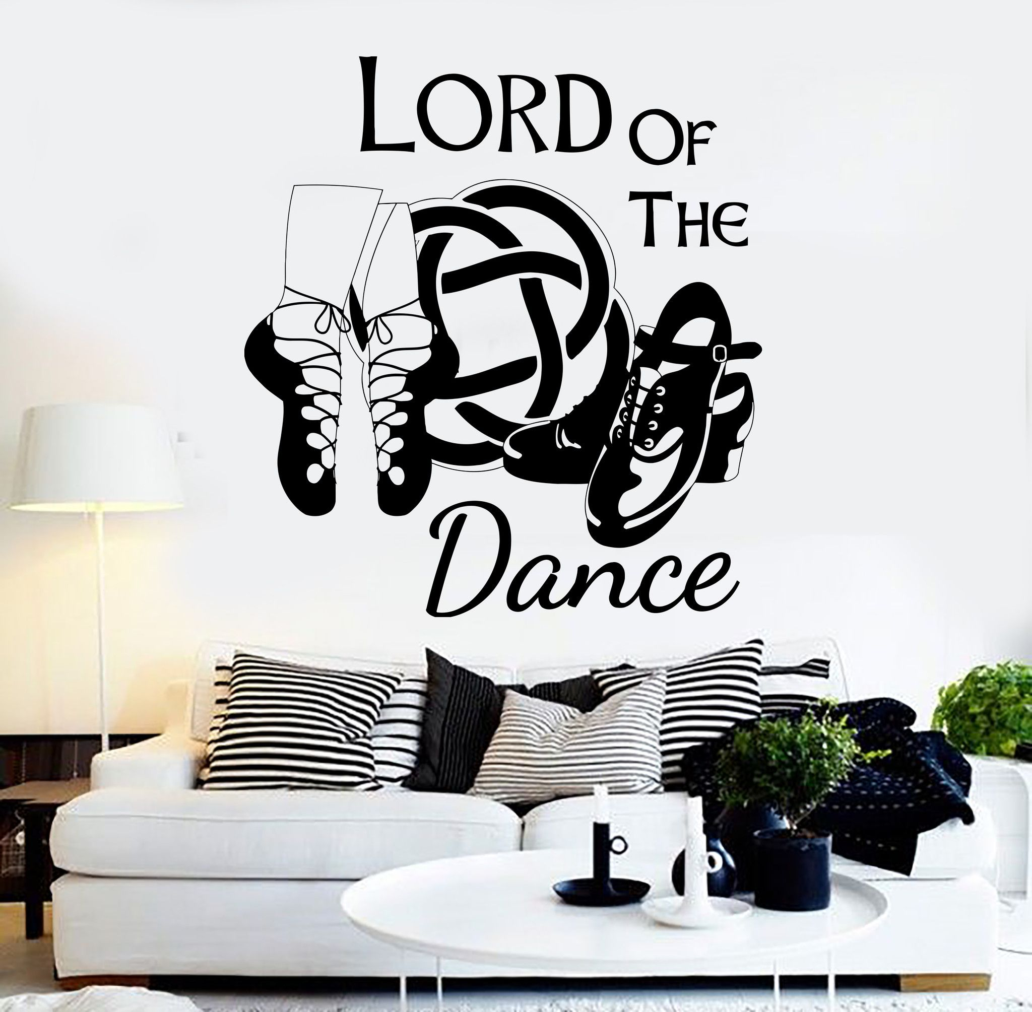 Vinyl Wall Decal Irish Dance Ireland Quote Celtic Stepdance Ghillies Stickers Unique Gift Ig3645 Vinyl Wall Decals Irish Dance Wall Decals