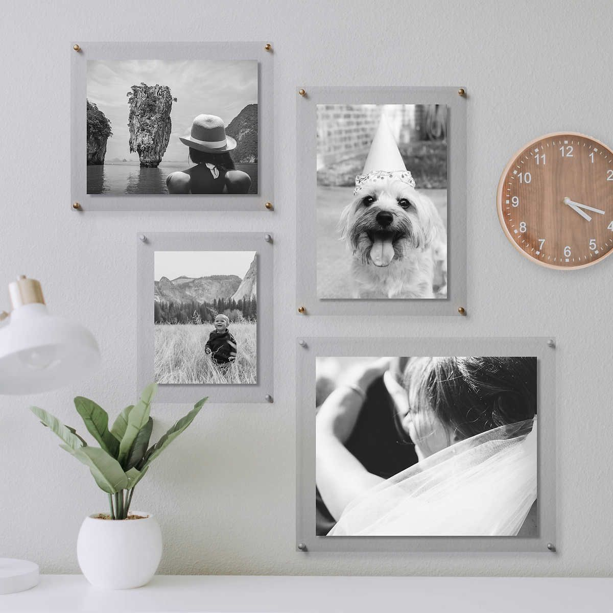 Clear Floating Acrylic Frames 2 Pack In 2020 Floating Acrylic Frame Gallery Wall Frames Acrylic Frames