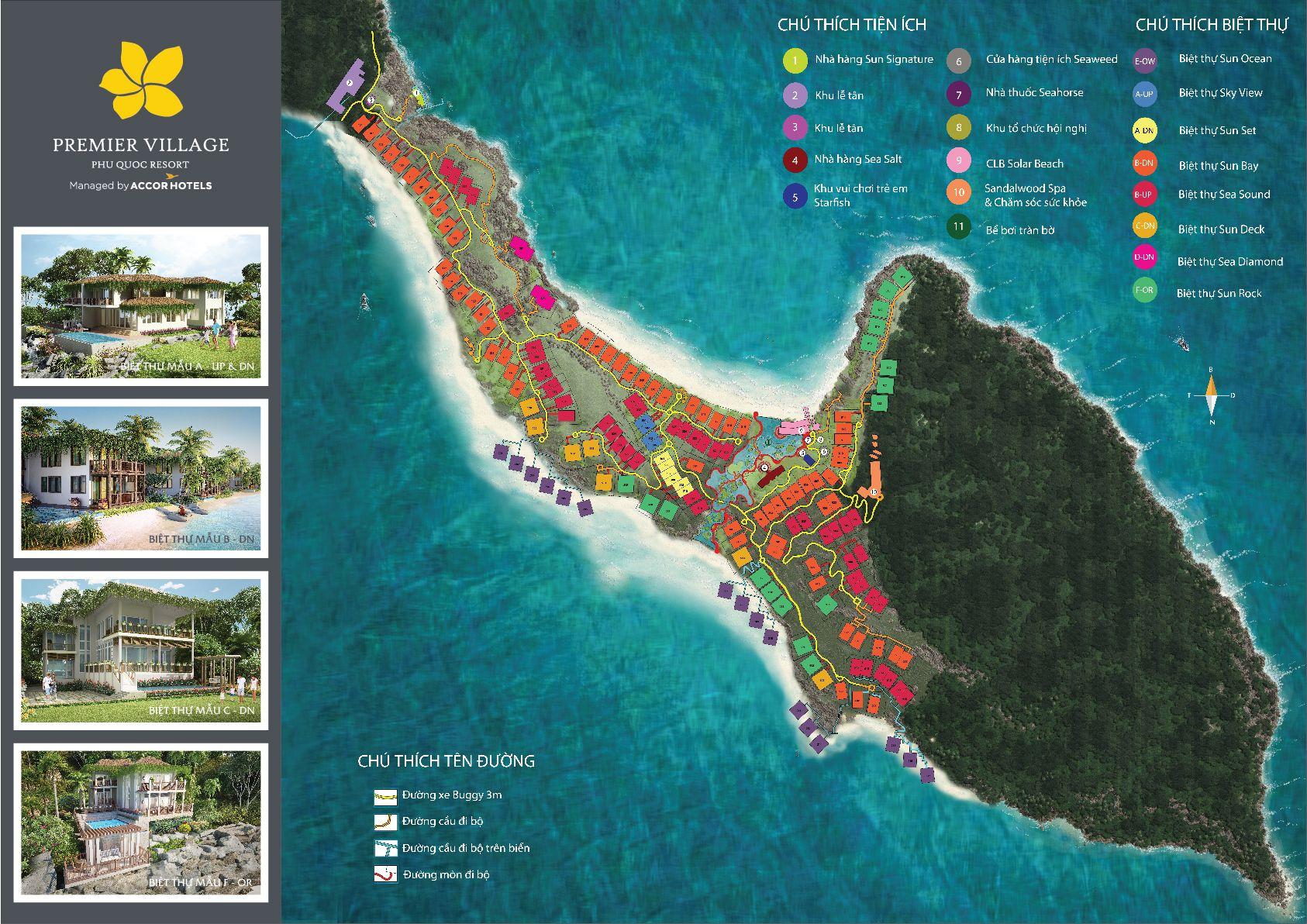 Premier Village Phu Quoc Resort Site plan, Phu quoc, Village