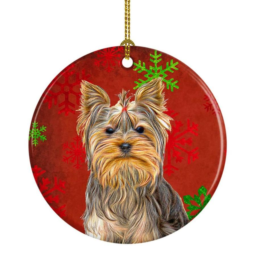 Caroline S Treasures Dogs Ornament Lowes Com In 2020 Dog Ornaments Yorkie Yorkshire Terrier Yorkie