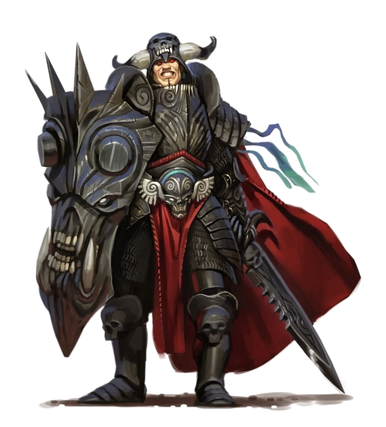 Male Human Anti-Paladin Sword and Shield in Black Armor - Pathfinder PFRPG DND D&D 3.5 5th ed d20 fantasy