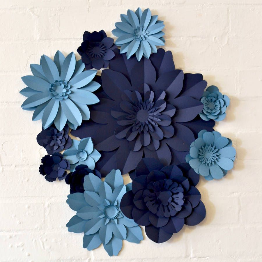 Handmade Two Colour Paper Flower Wall Display Paper Flowers