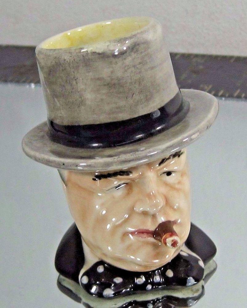 "Winston Churchill Miniature Toby Mug Royal Winton Man of The Year ""Very Nice"""