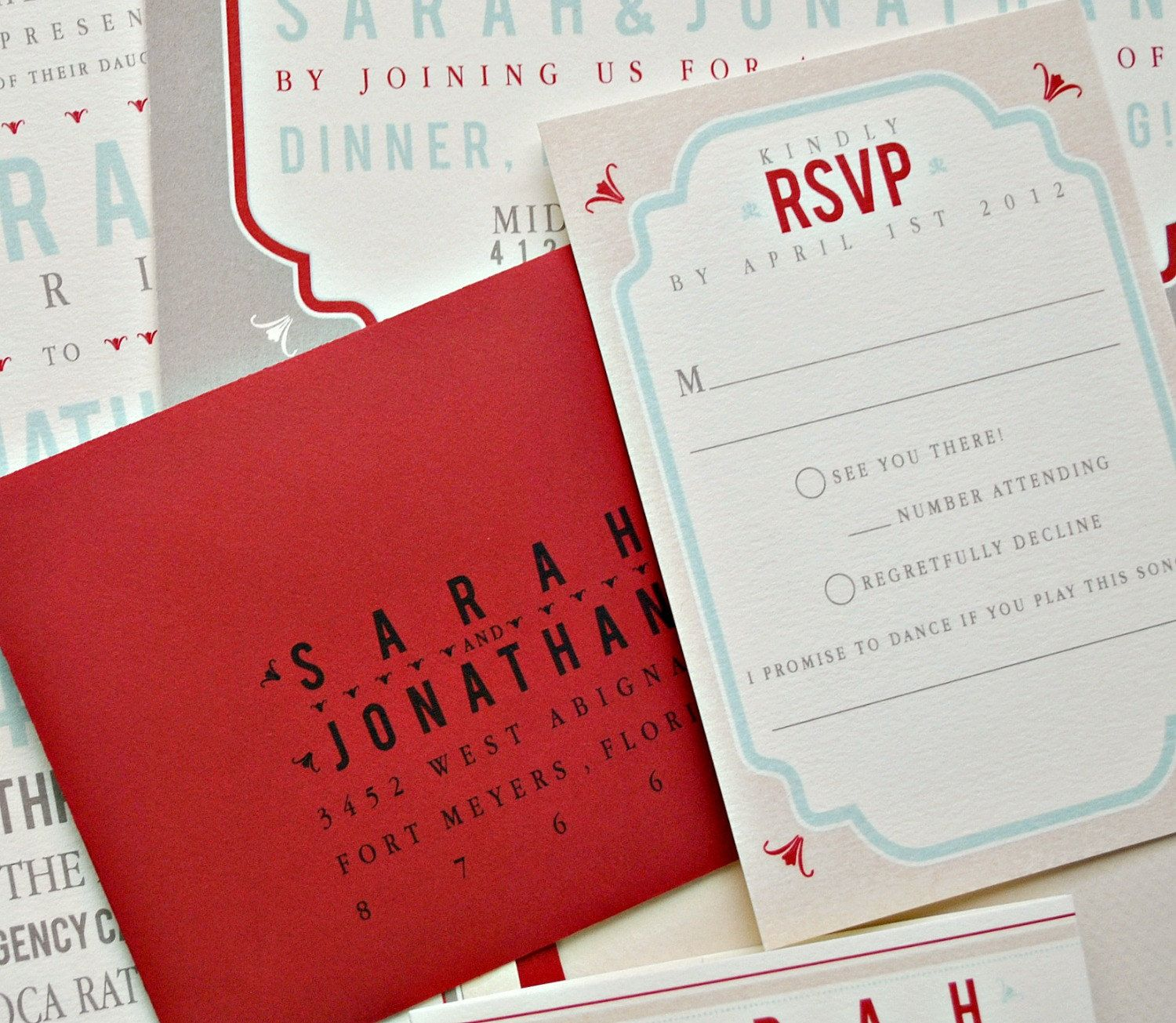 Tori Vintage Tag Wedding Invitation Suite with Belly Band - Ivory ...