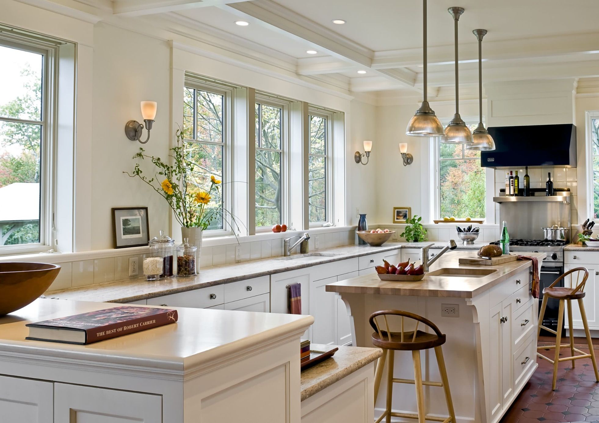Layout Kitchens Without Upper Cabinets Kitchen Layout Home Kitchens