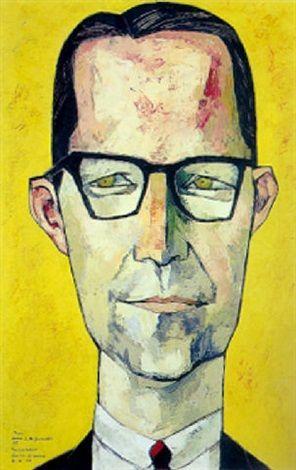 Portrait of John J. McDonough by Oswaldo Guayasamín