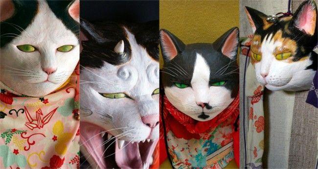 魅力的な猫がたくさん!猫の持つ神々しさを表現した「猫面屋霧中堂」の猫面がステキ – Japaaan 日本の文化と今をつなぐウェブマガジン