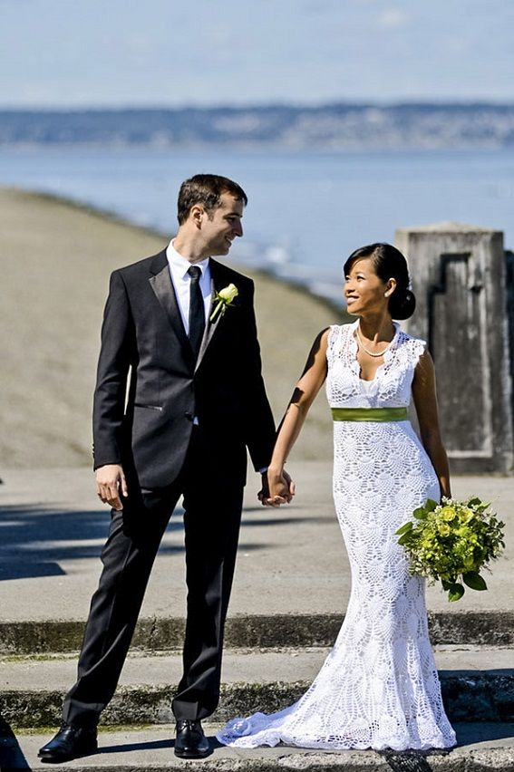 vestidos de novia hechos a crochet | bride and groom | pinterest