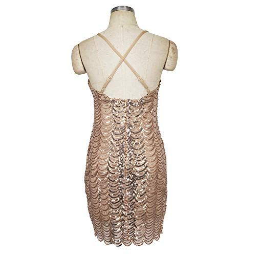 Transer- sequin dress spaghetti backless v neck strap adjustable shining prom party cocktail dresses #backlesscocktaildress